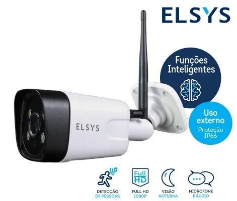 CAMERA WIFI FULL HD ELSYS C/INFRA ESC-WB3F - TUBULAR EXTERNA