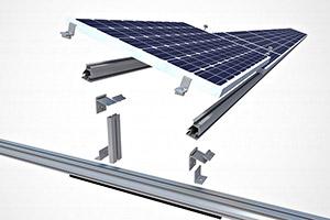 ESTRUTURA ENERGIA SOLAR TELHA CERAMICA 2 PLACAS