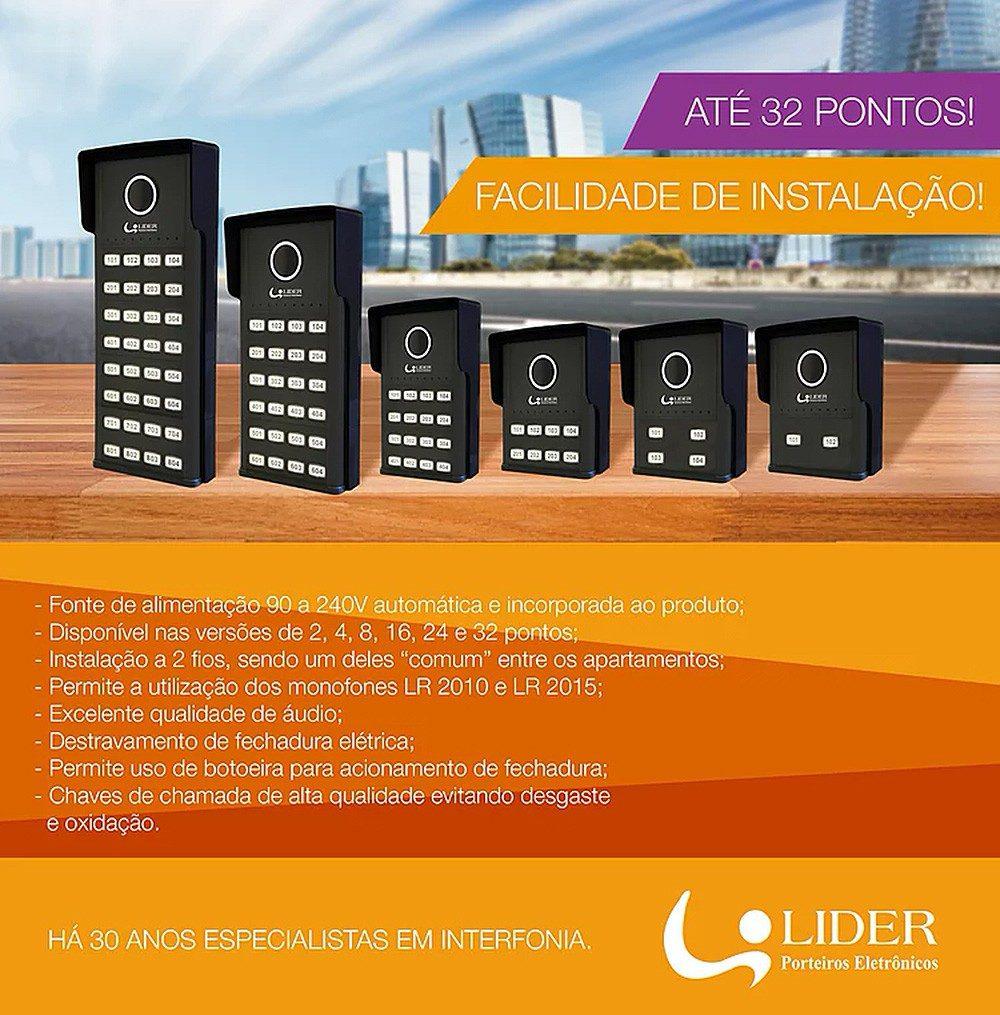 PORTEIRO COLETIVO SMART LIDER 6 PONTOS