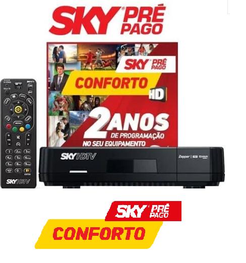 RECEPTOR DE TV VIA SATELITE SKY CONFORTO HD ZAPPER - ETRS56/