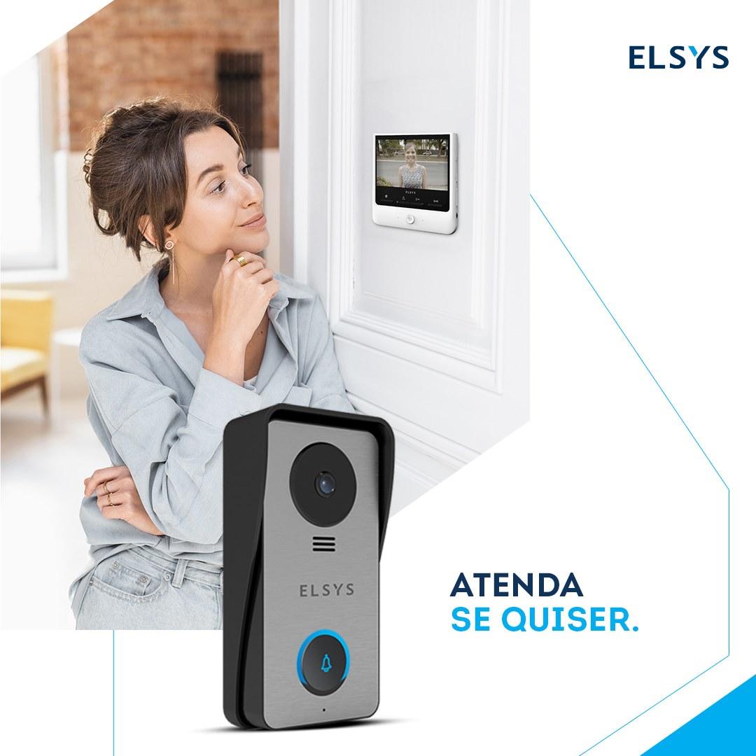 VIDEO PORTEIRO CABEADO MONITOR 4 - ELSYS ESL-VPC43