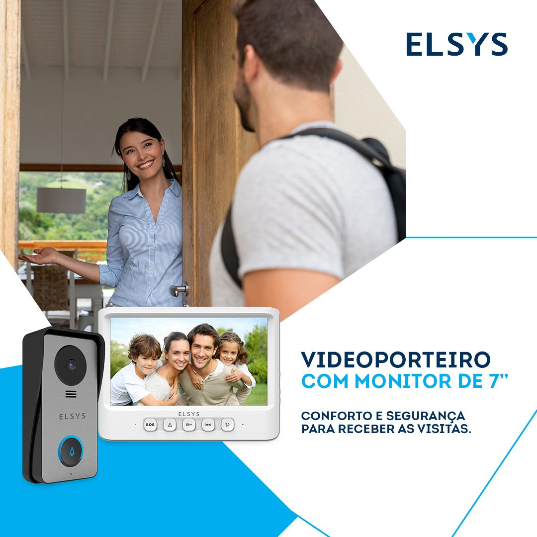 VIDEO PORTEIRO CABEADO MONITOR 7 - ELSYS ESL-VPC7