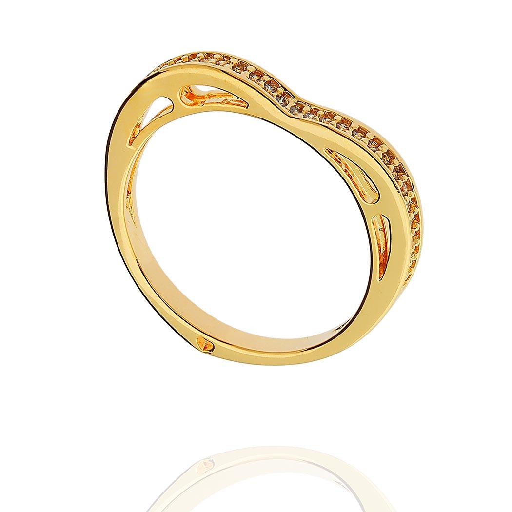 anel aparador Daiany Hank coração zircônias