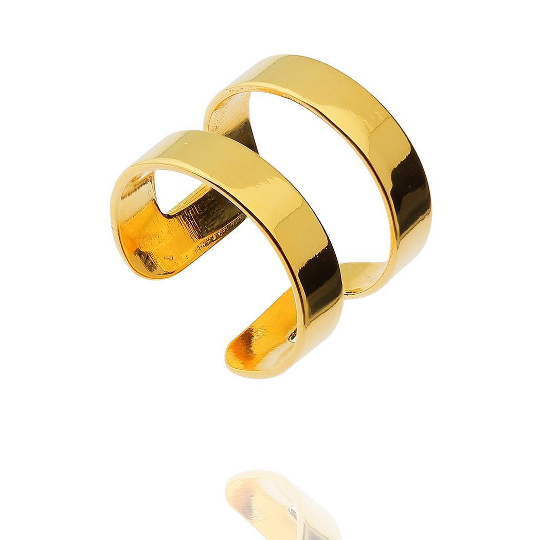 anel daiany hank gladiador regulável dourado