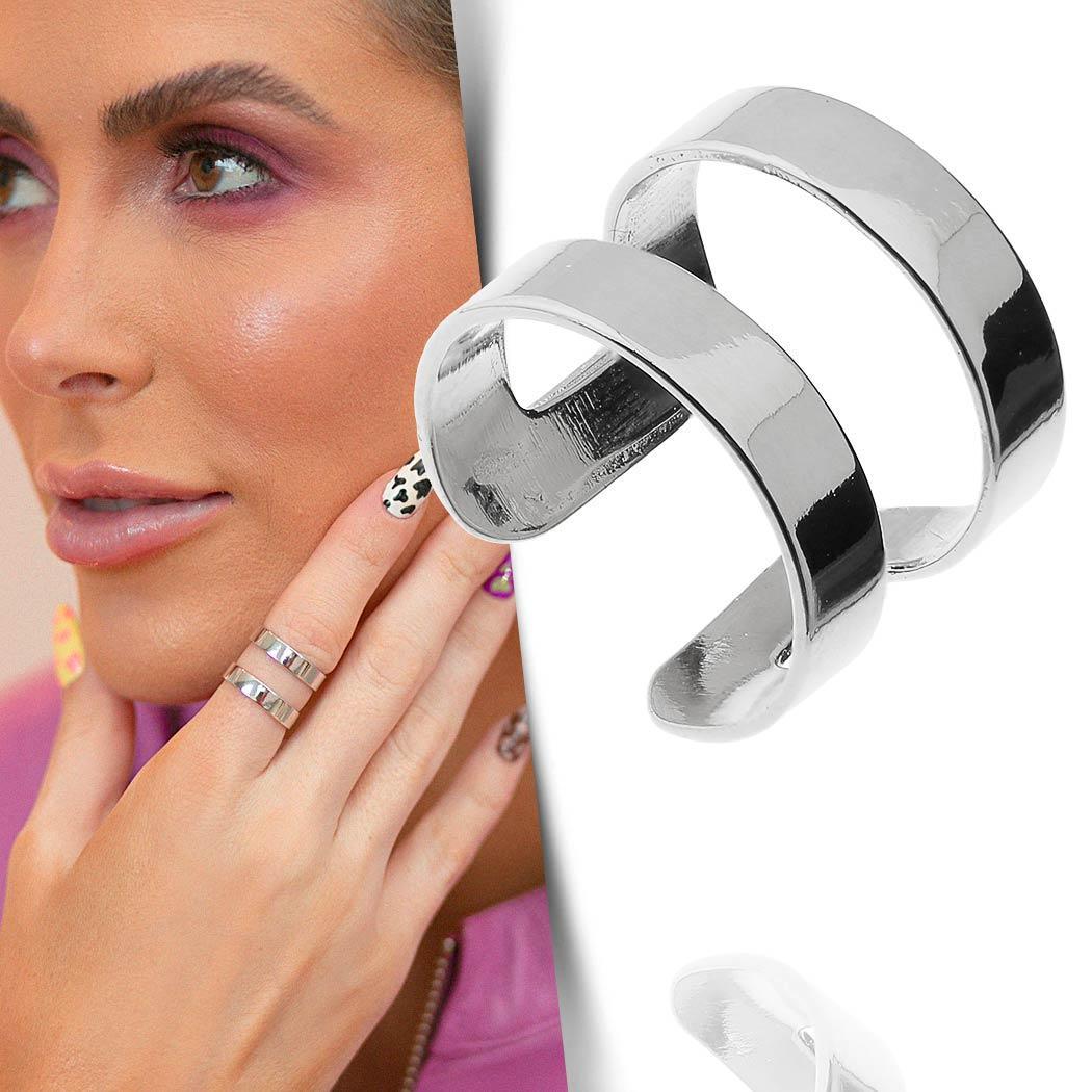anel daiany hank gladiador regulável ródio claro
