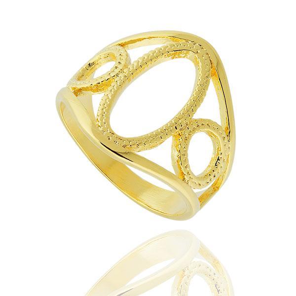 anel elipse círculos dourado