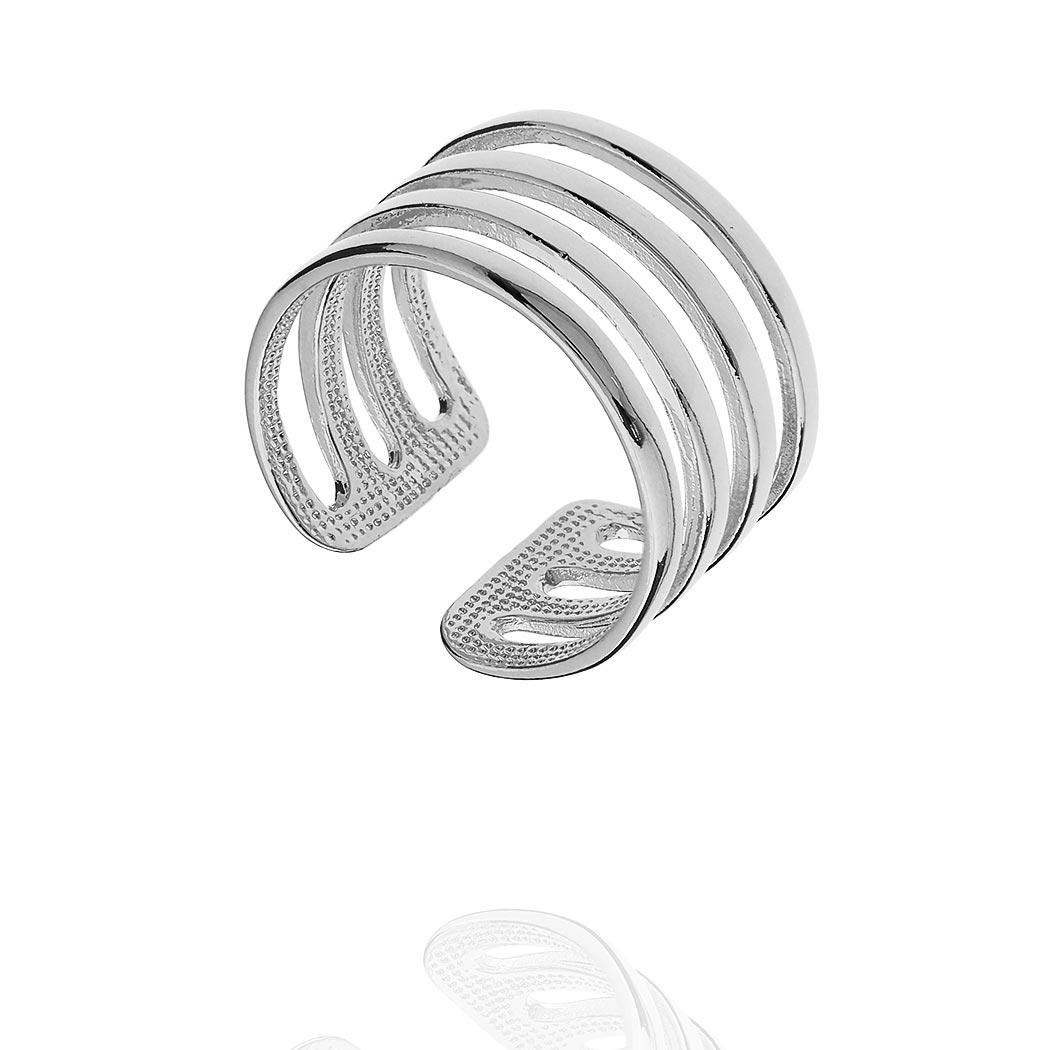 anel falange gladiador aros ródio claro