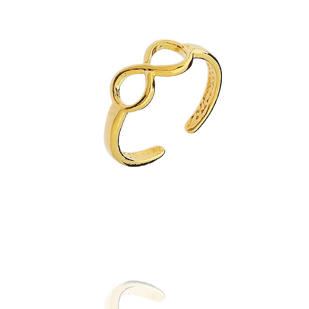 anel falange infinito dourado