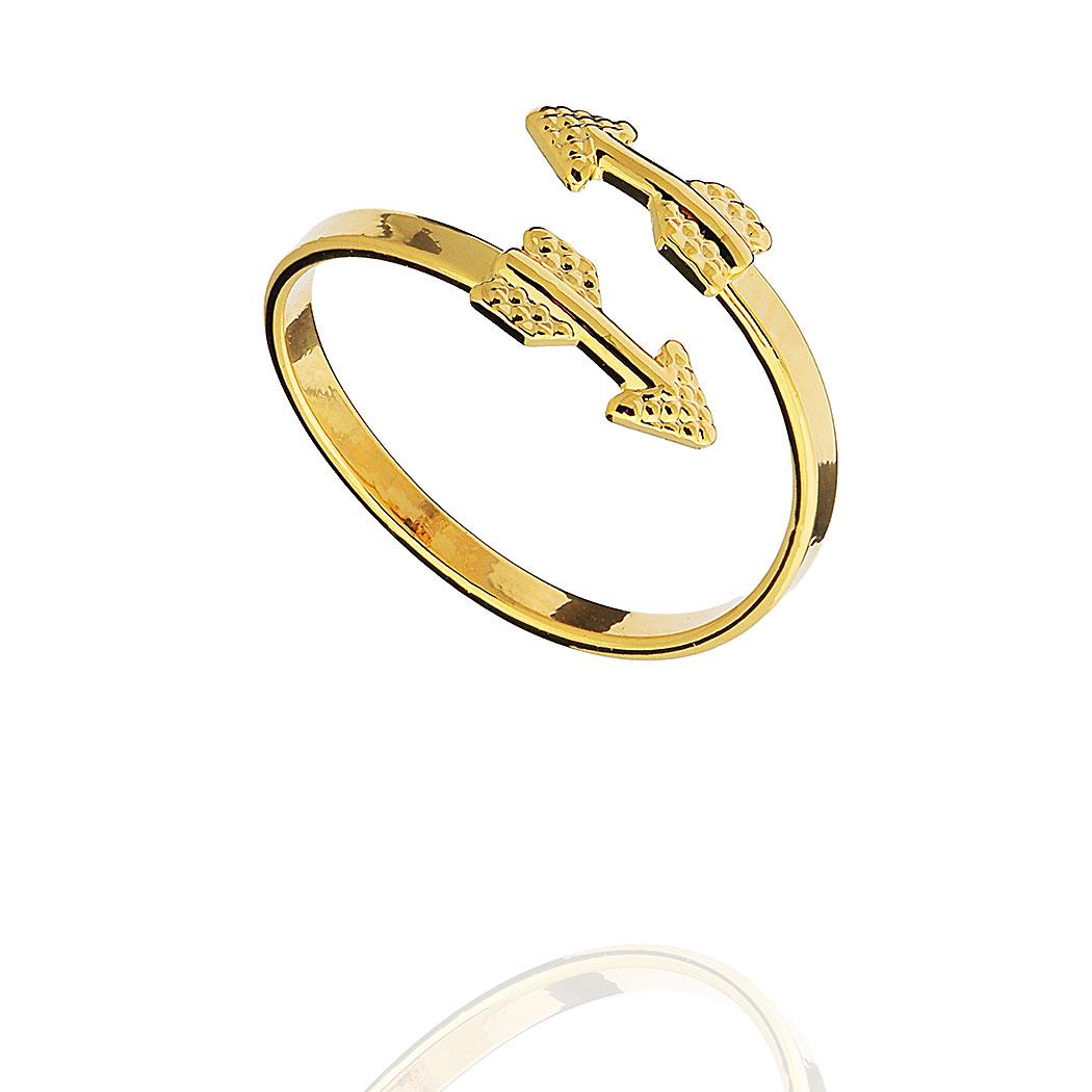 anel falange regulável flecha dourado