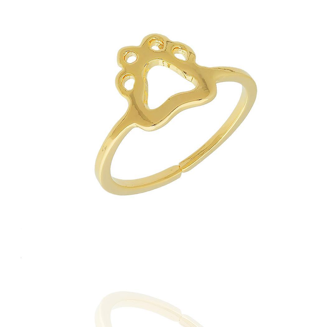 anel falange regulável pet semijoia dourado