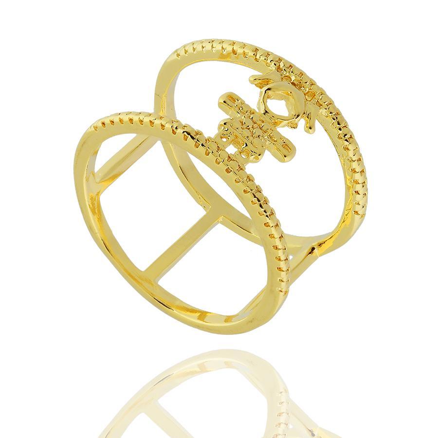 anel filhos menina dourado
