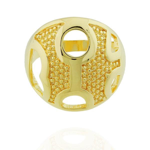 anel largo formas convexo dourado