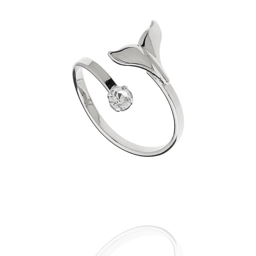anel regulável rabo baleia ródio claro