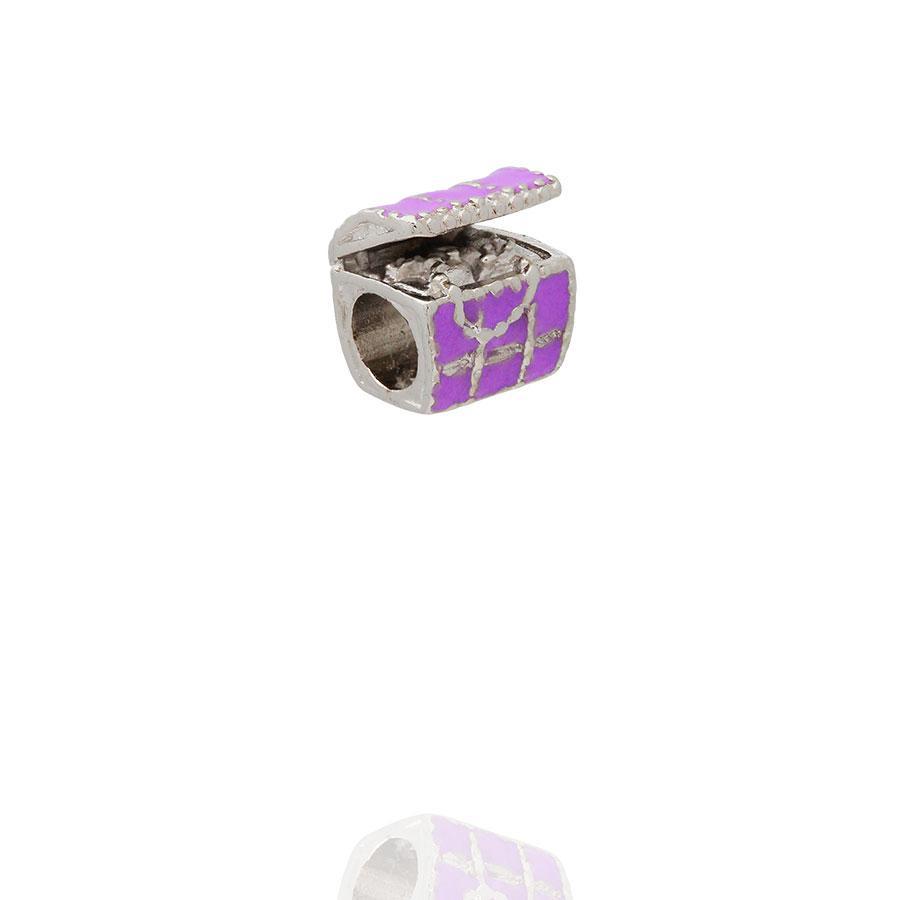 berloque baú do tesouro lilás passante