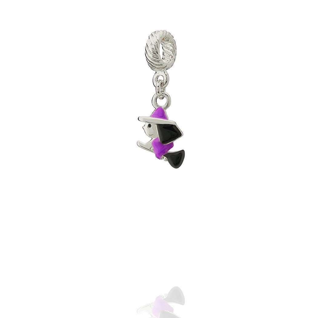 berloque bruxa vassoura violeta