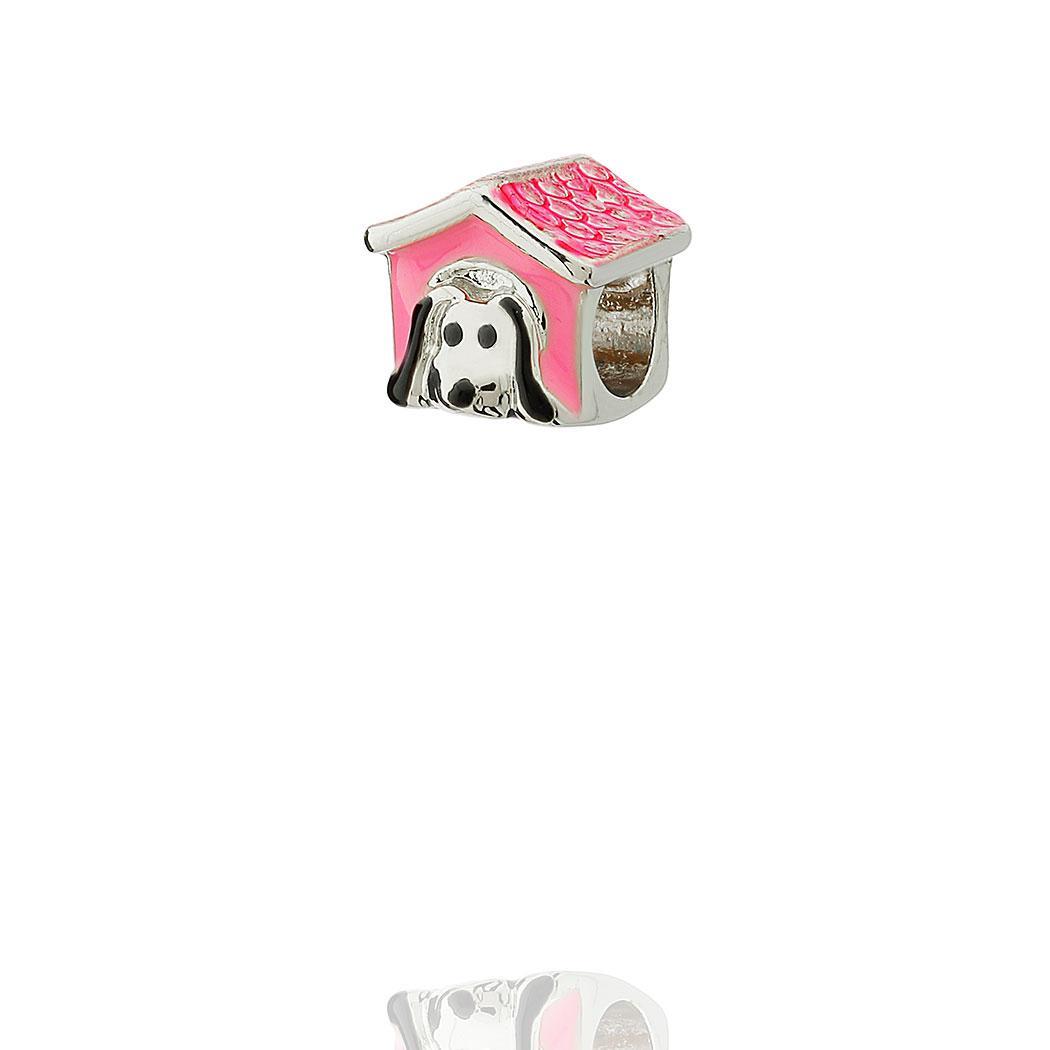 berloque casinha de cachorro coração