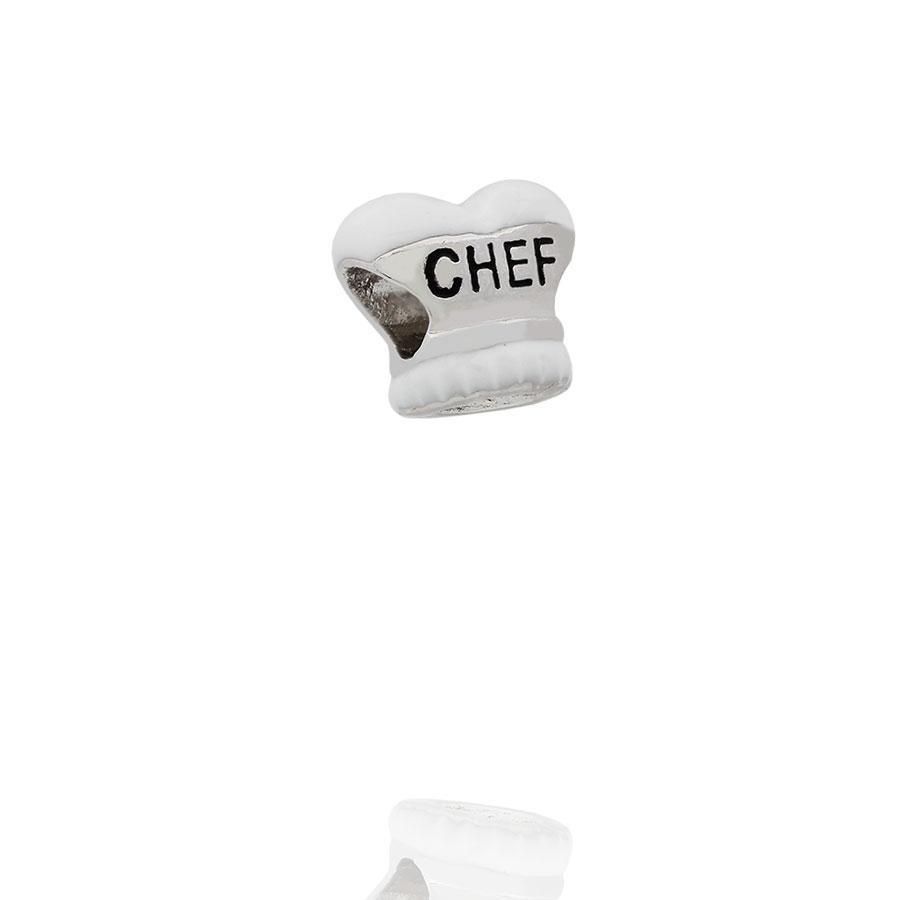 berloque chapeu chef gourmet branco