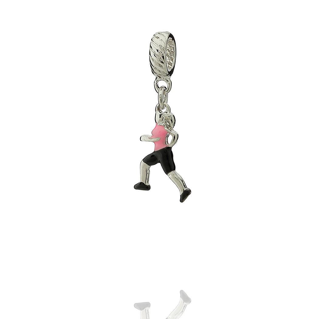 berloque corrida mulher fitness rosa