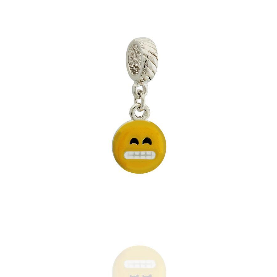 berloque emoji confuso esmaltado