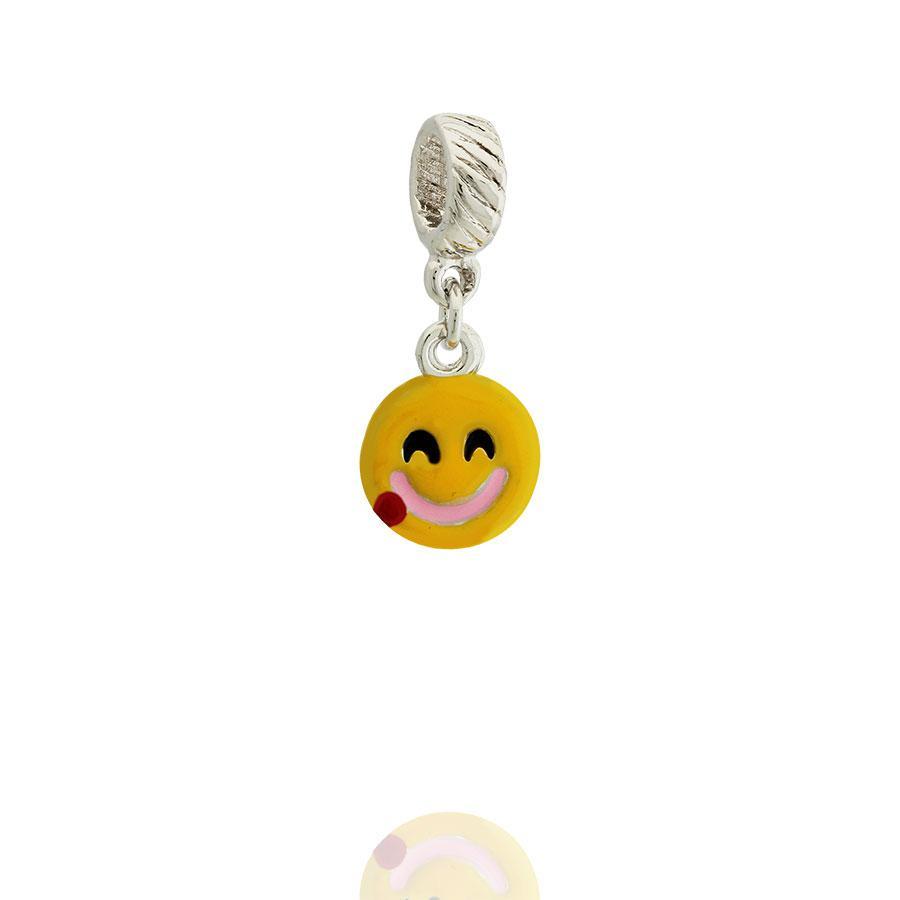 berloque emoji fome esmaltado