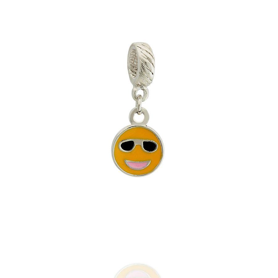 berloque emoji óculos escuros