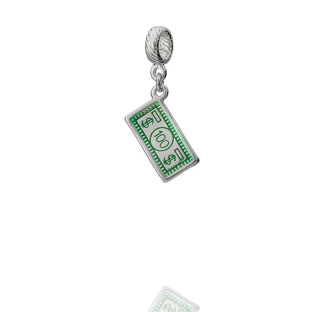 berloque nota de dolar verde