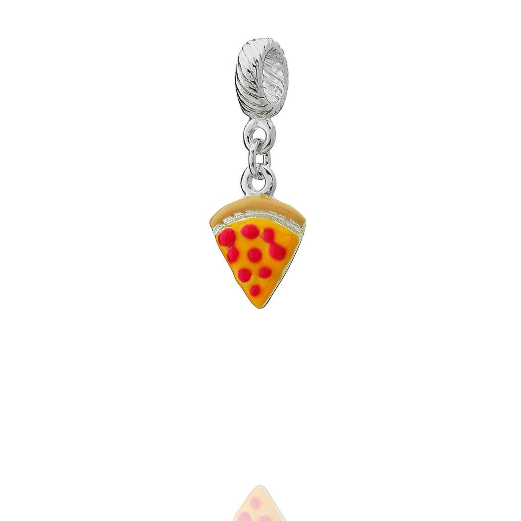 berloque pingente pizza fatia
