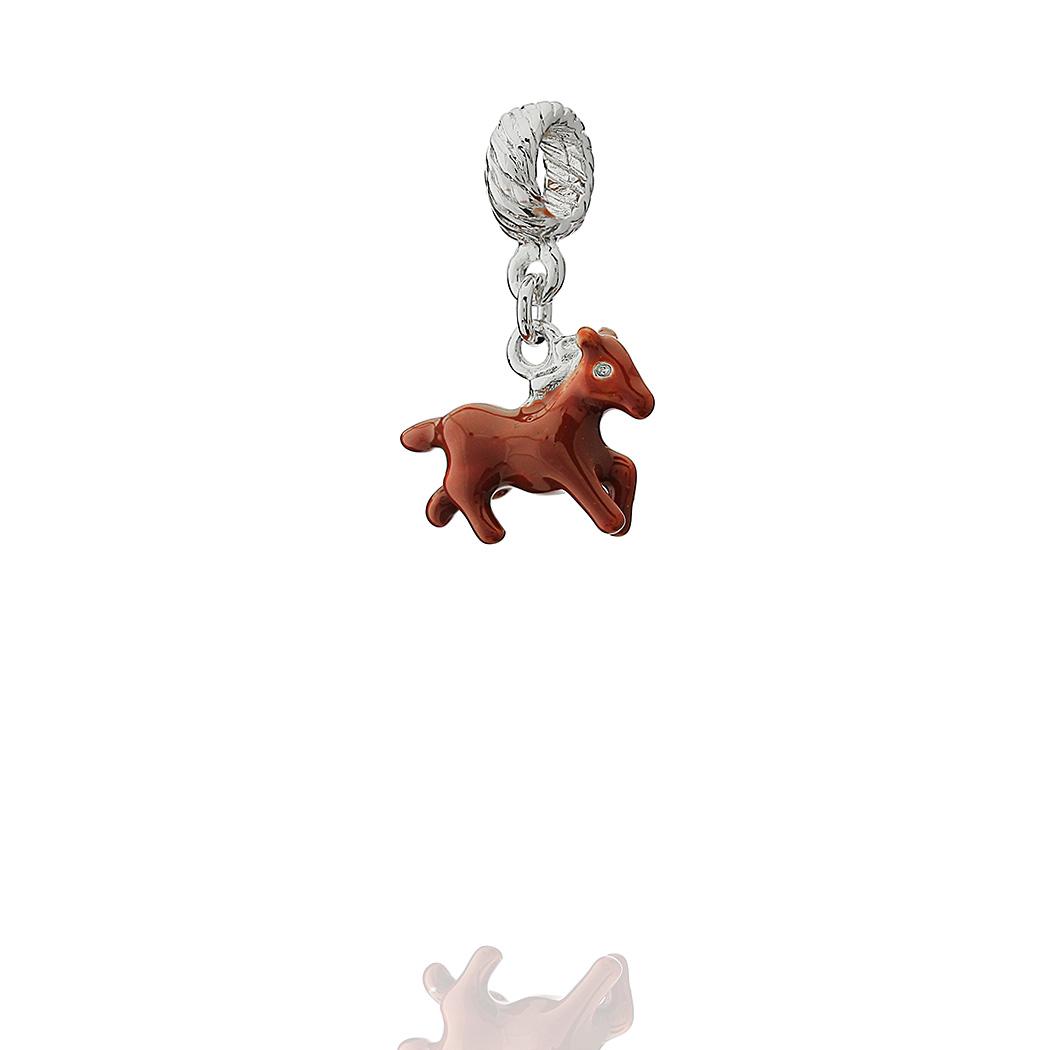 berloque pingente ponei marrom
