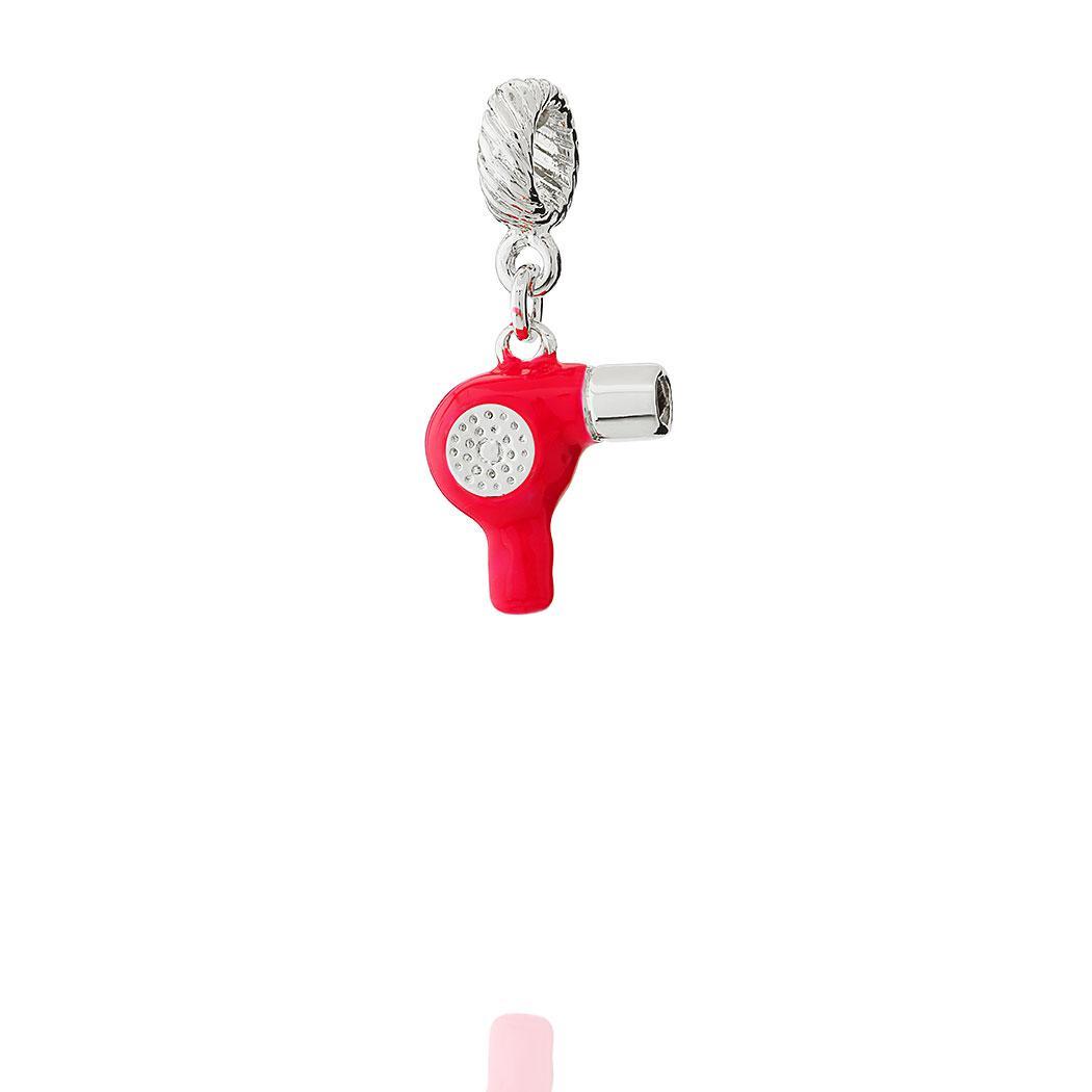 berloque secador de cabelo vermelho