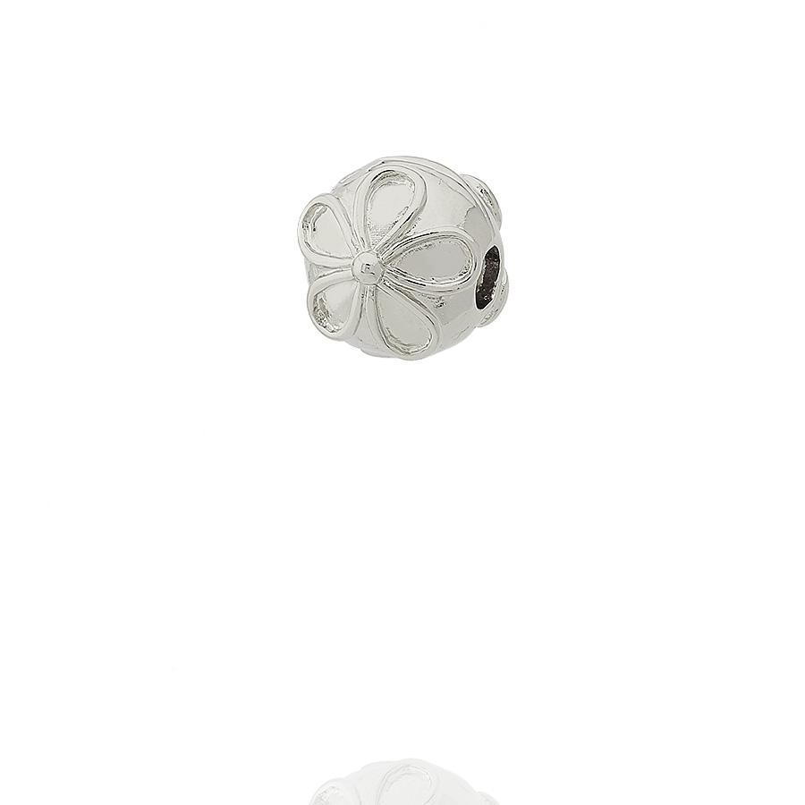 berloque trava para pulseira flor
