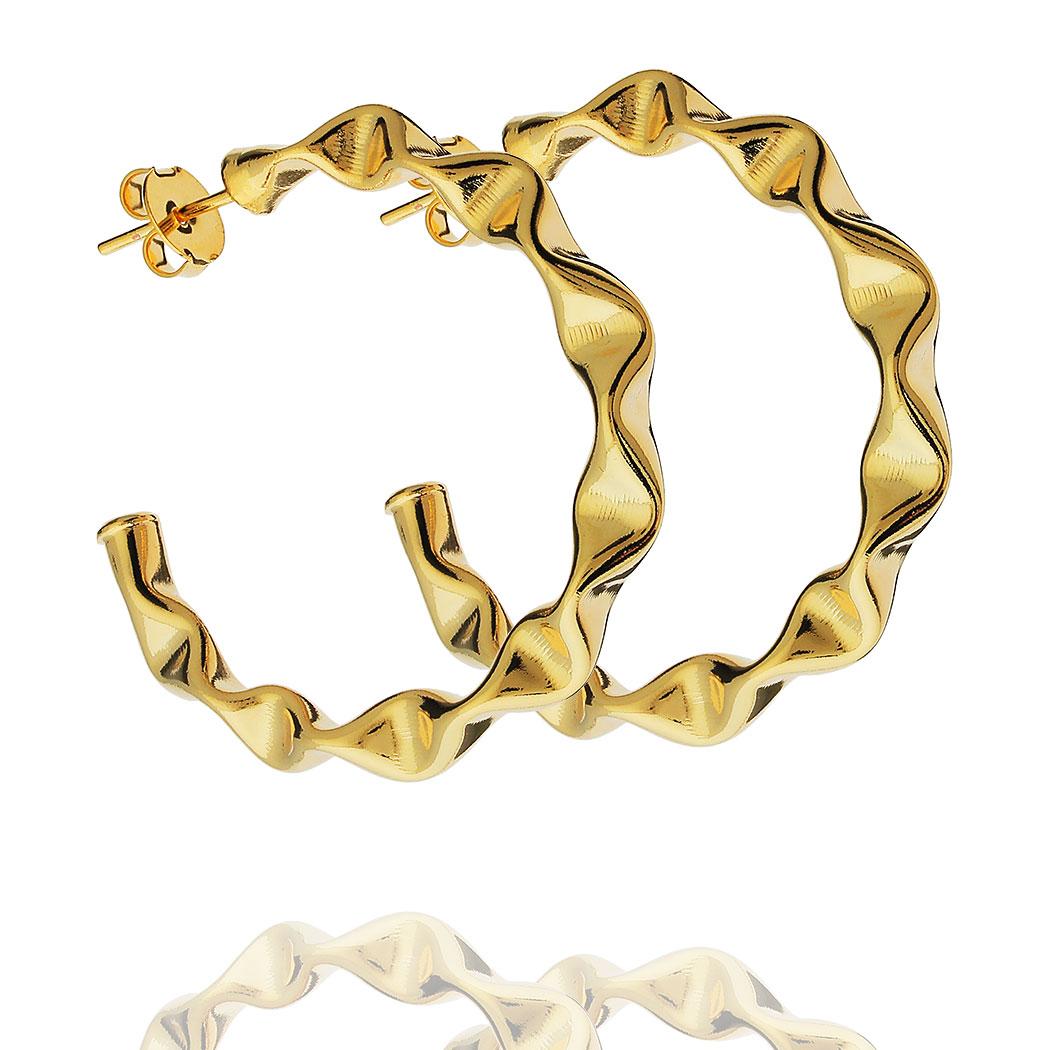 brinco argola juliette dourada