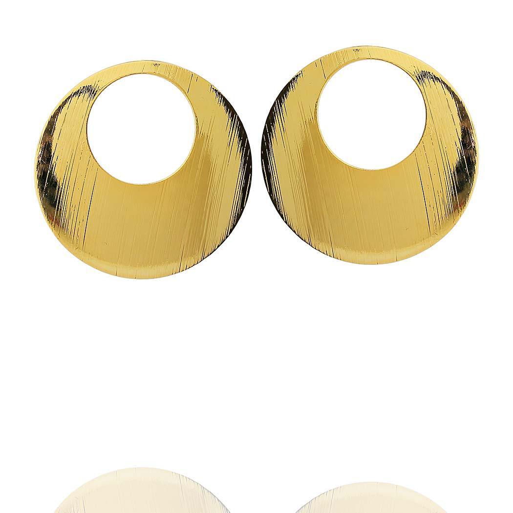 brinco circular médio dourado