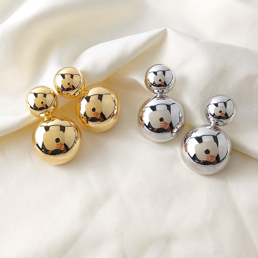 brinco daiany hank bolas grande dourado