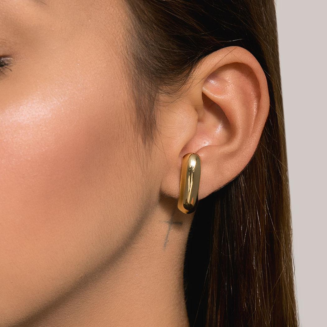 brinco Daiany Hank ear hook liso dourado