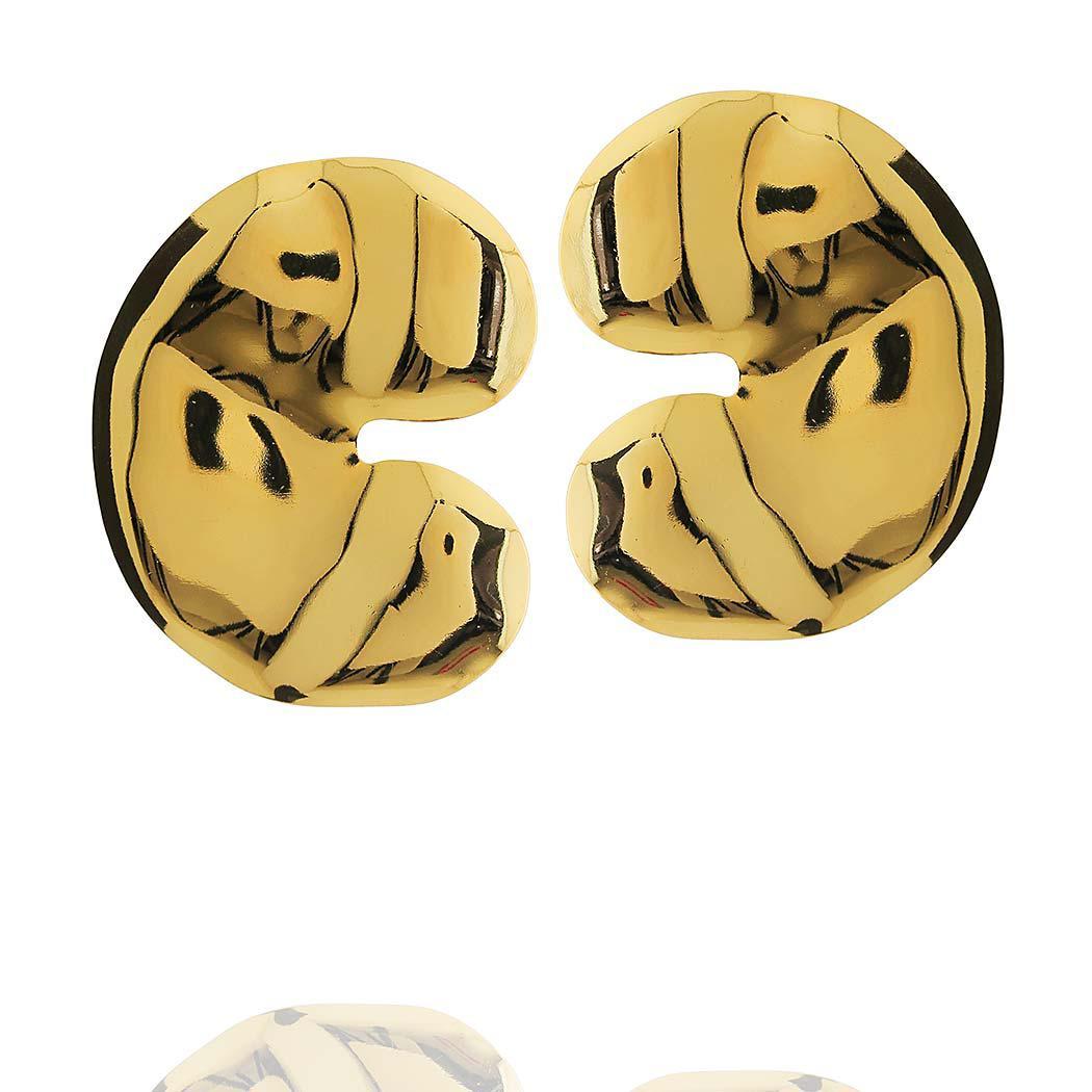 brinco formas u dourado
