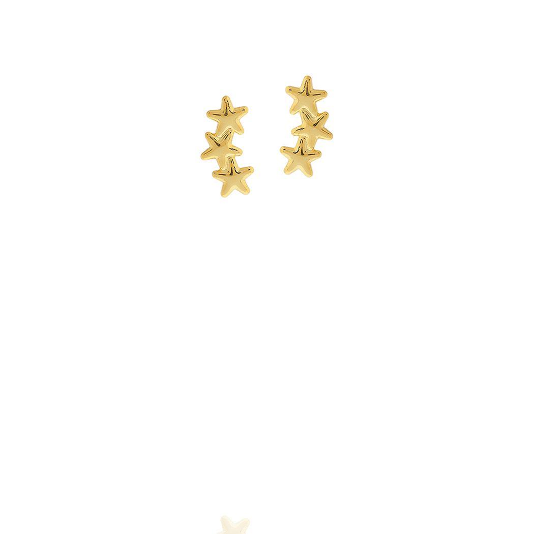 brinco pequeno estrelinha dourado