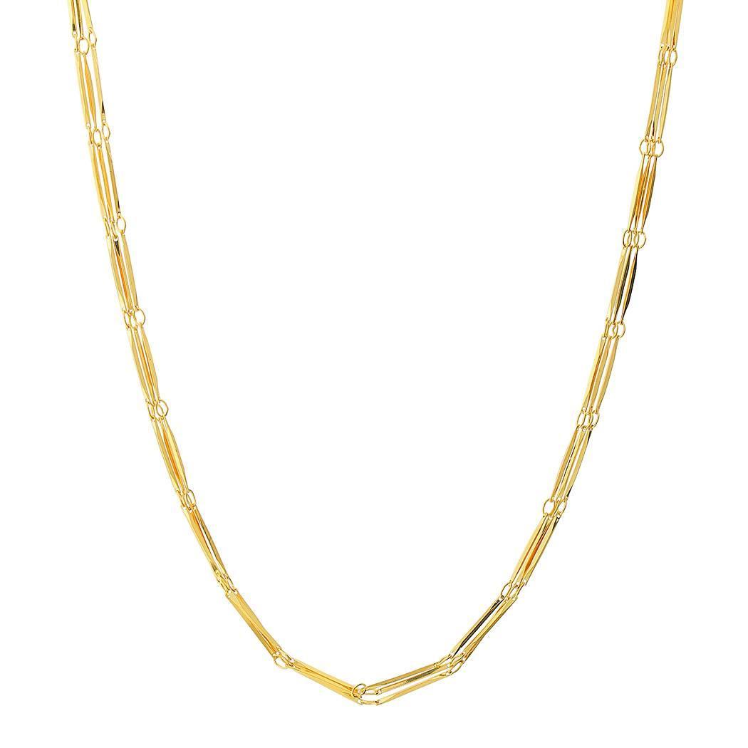 colar curto choker três fios dourado