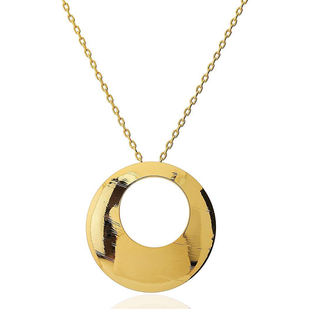 colar circulo formas dourado