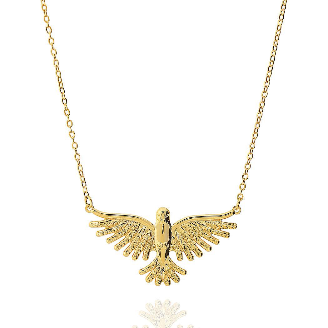 colar espírito santo grande dourado