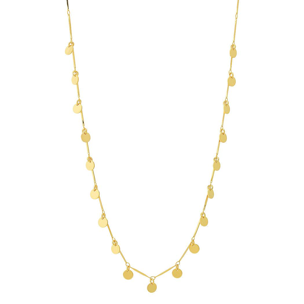 colar longos medalhinhas dourado