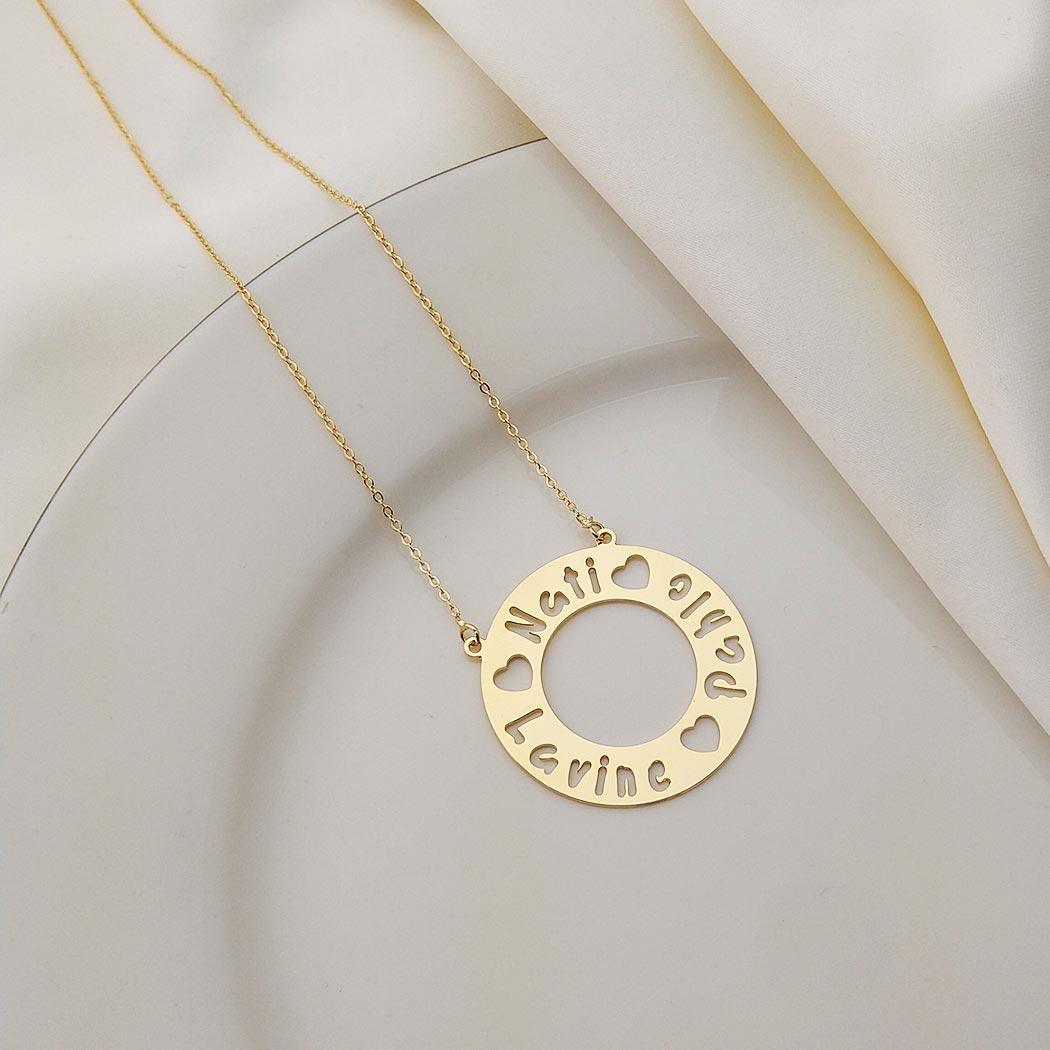 colar mandala circular nomes personalizado