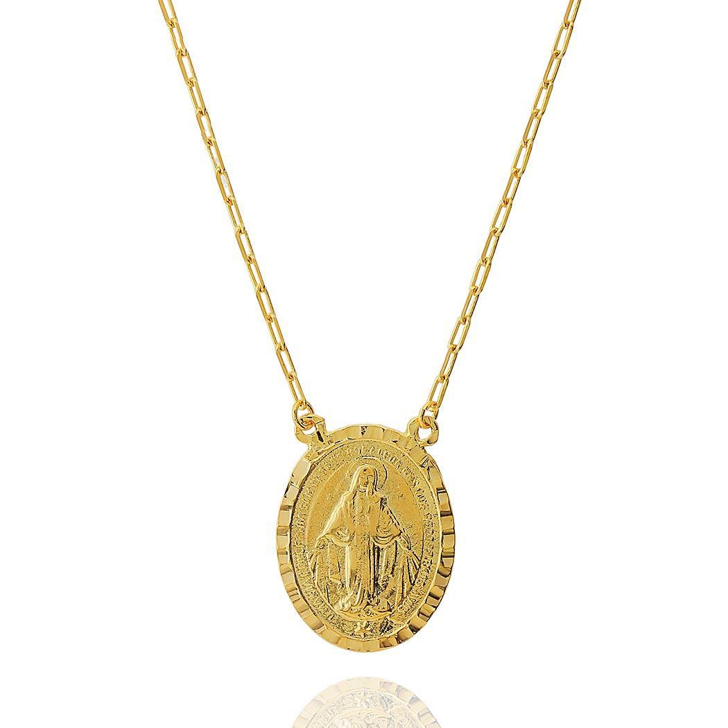 colar medalha Nossa Senhora Daiany Hank dourado