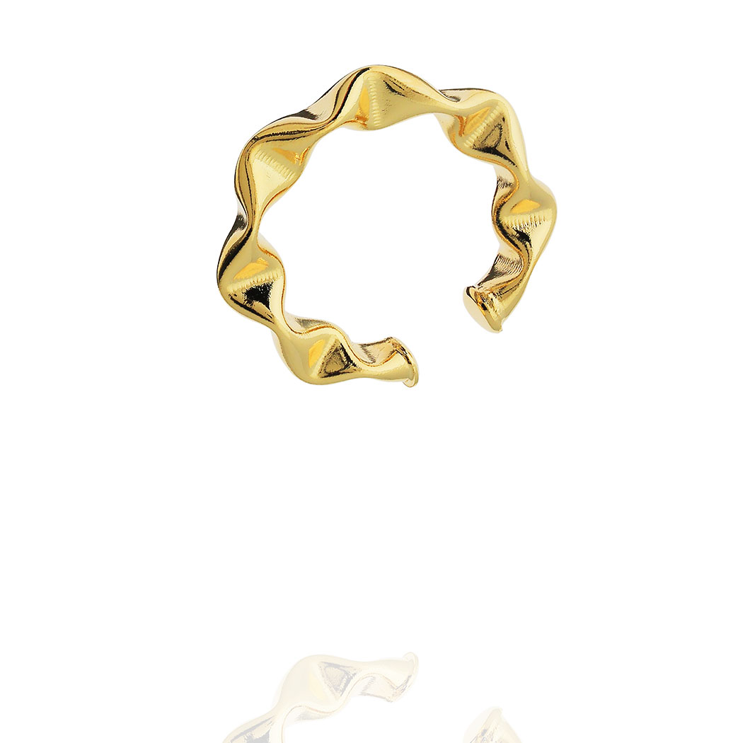 piercing grande 28 mm ondas dourado