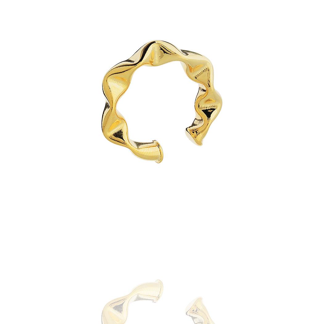 piercing médio 24 mm ondas dourado