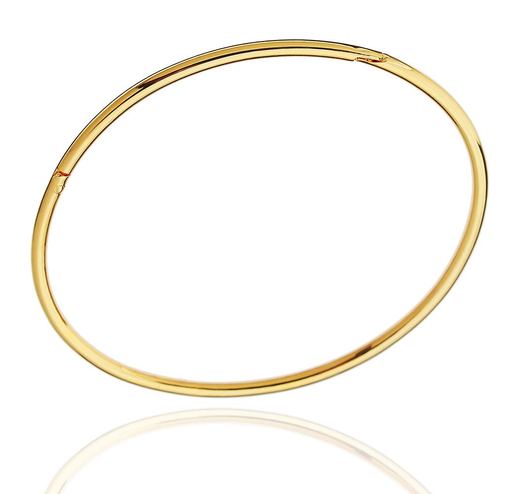 pulseira bracelete algema liso dourado