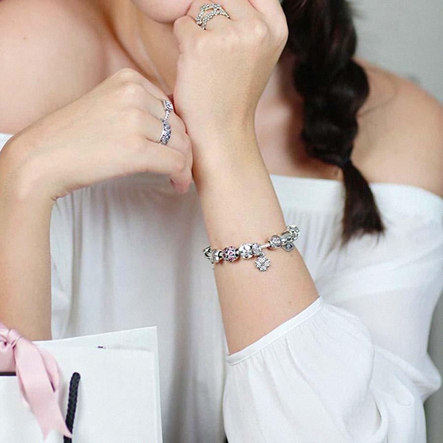 pulseira bracelete berloque 17 cm