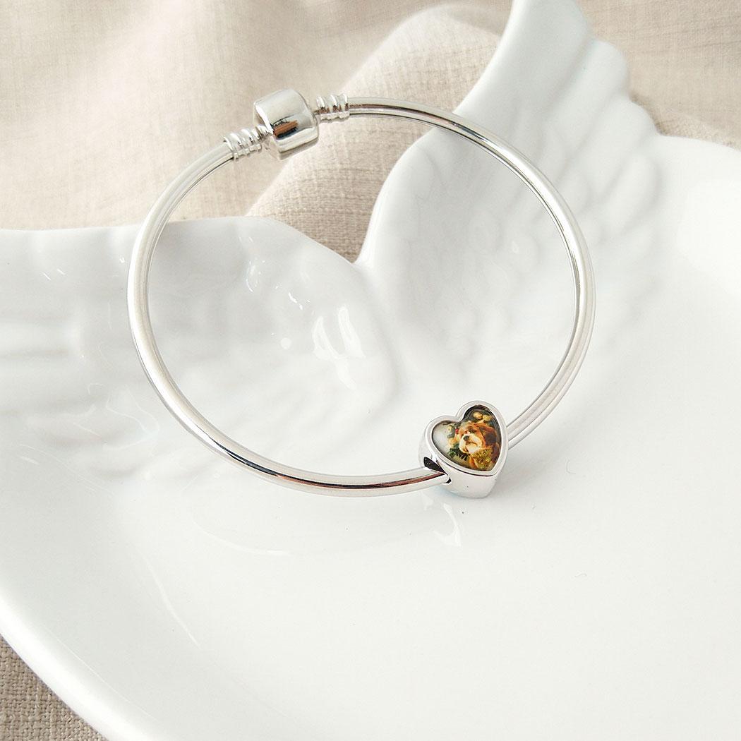 pulseira bracelete berloque 19 cm