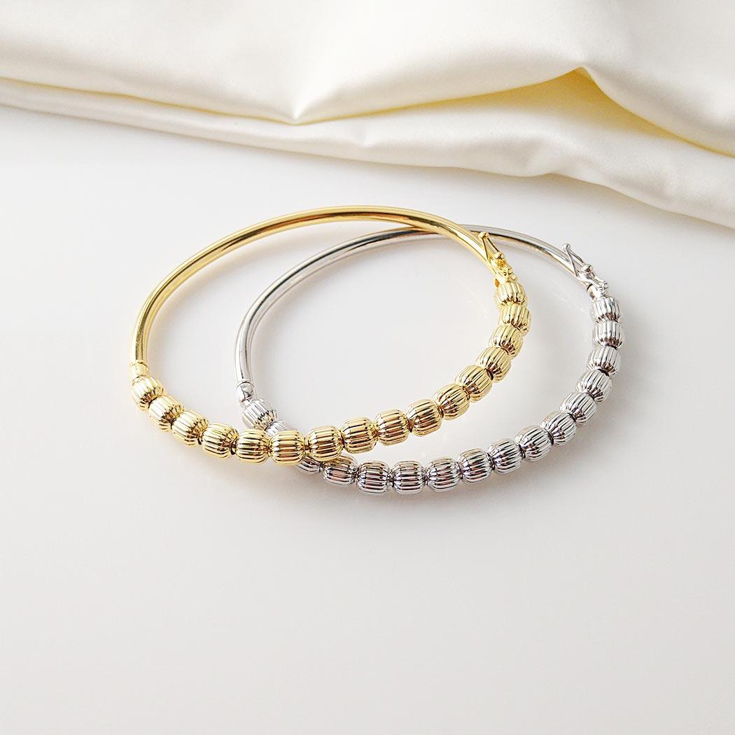 pulseira bracelete bolas dourado