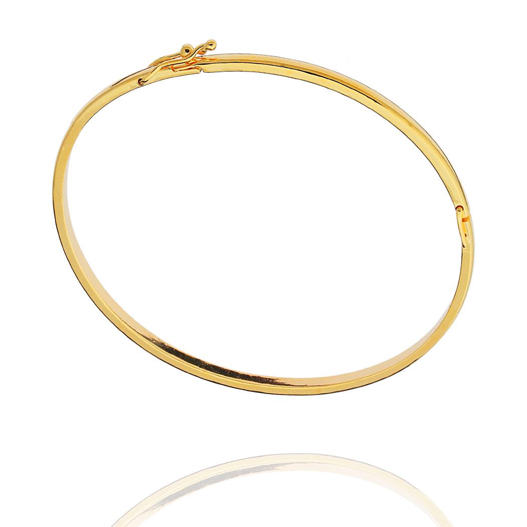 pulseira bracelete Daiany Hank rígido dourado