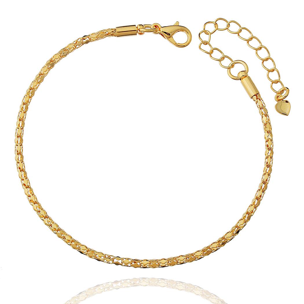 pulseira corrente escamas dourada